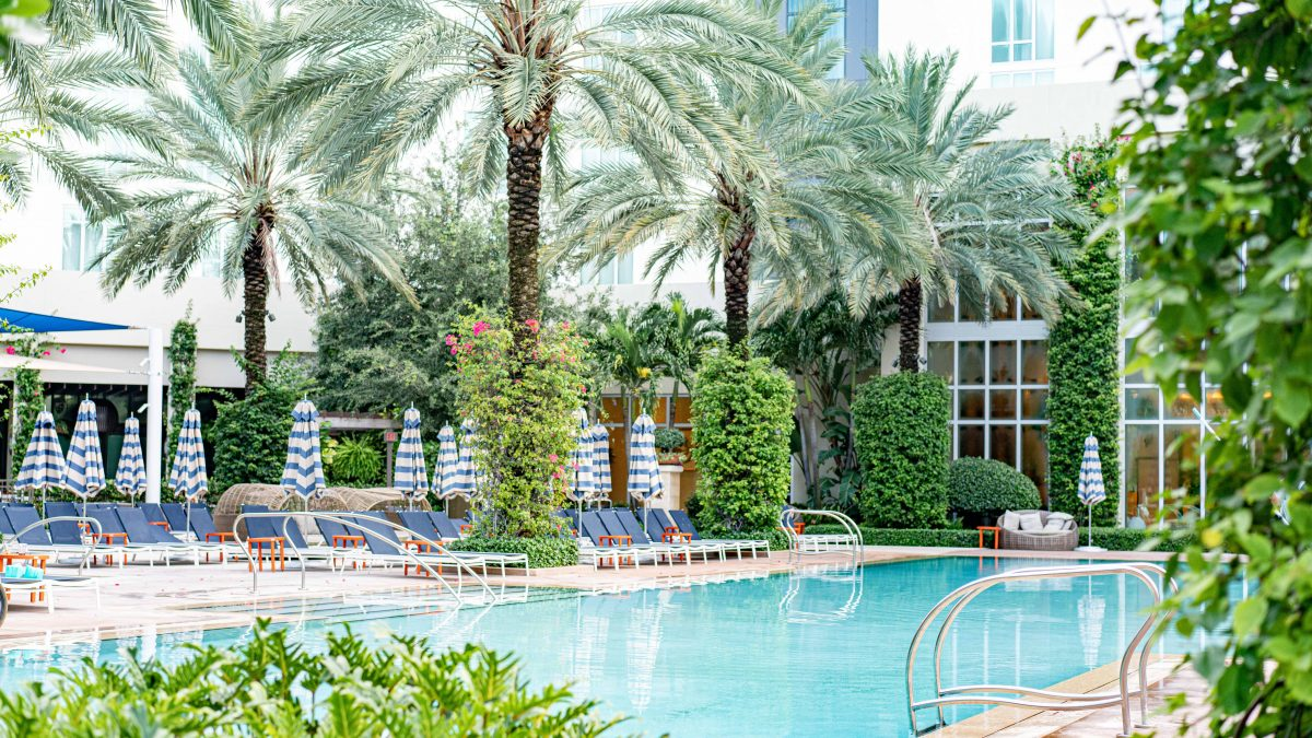 Poolside daycation at The Hilton West Palm Beach