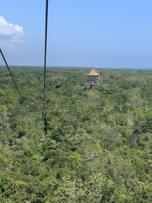 Ziplining the Mexican jungle with Antoinette Lashley
